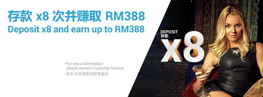 sky3888 Top Up Deposit Bonus x8 Up to RM388
