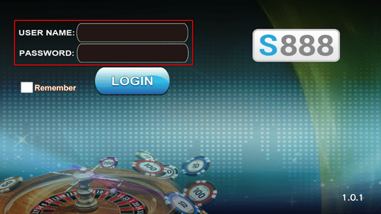 Step5: Login S888 Slot Game mobile version.