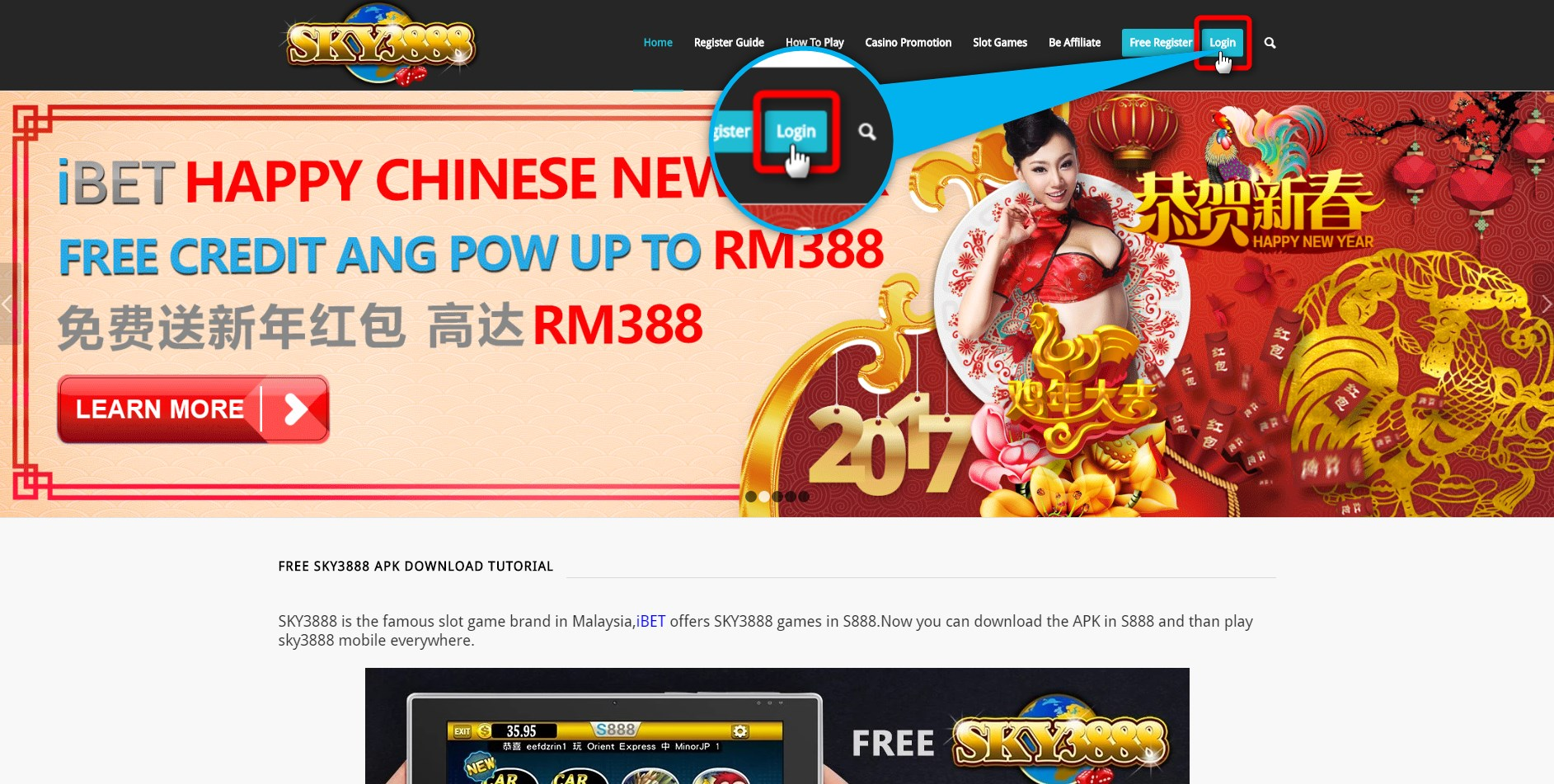 Sky3888 guide you to get iBET Ang Pow Free Credit