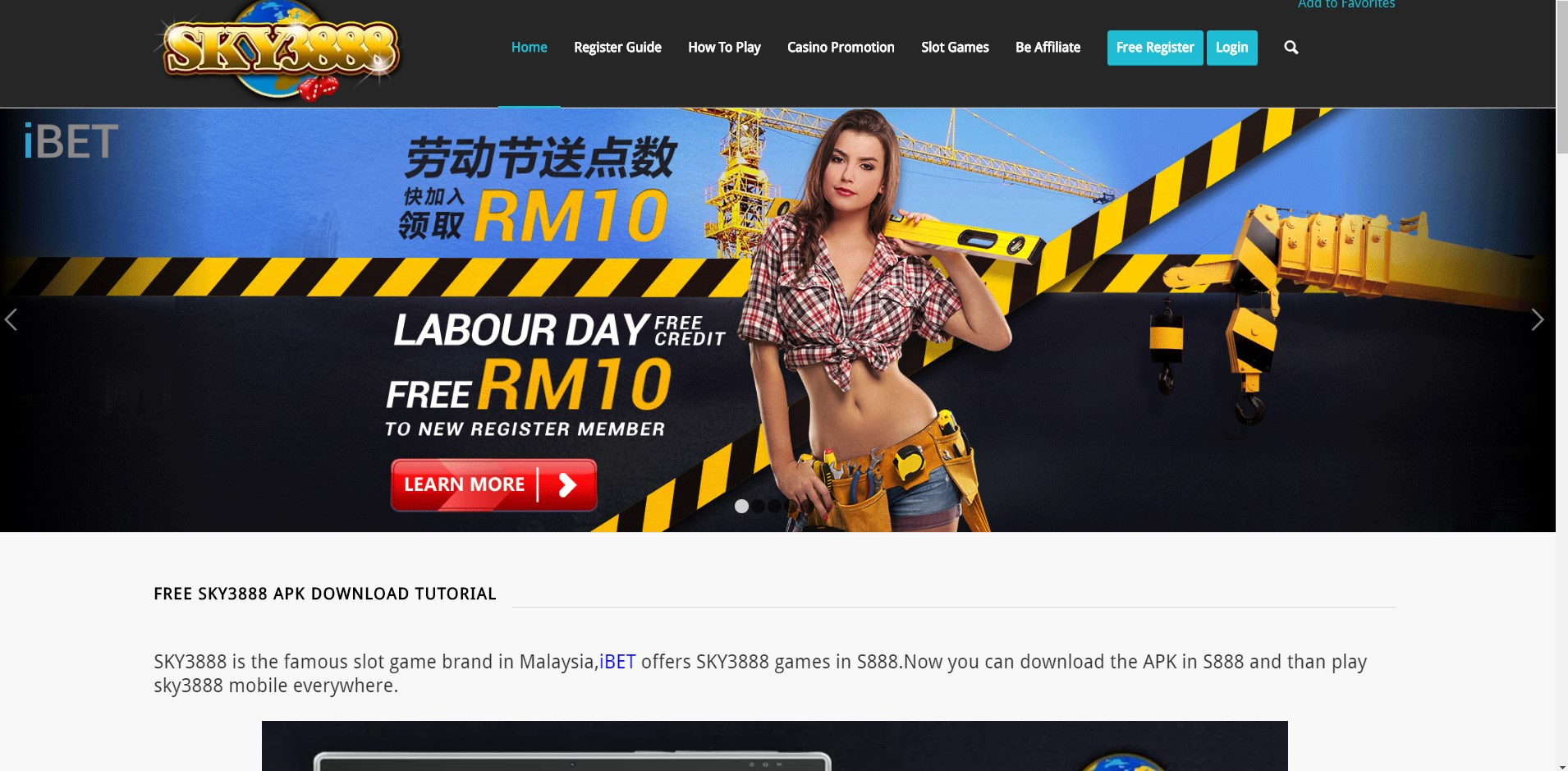 Teaching you Get iBET Free Labour Day RM10