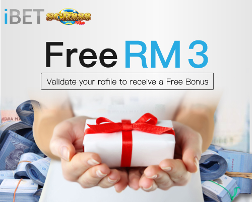 iSCR888 bonus for Verifying personal info and get RM3 FREE