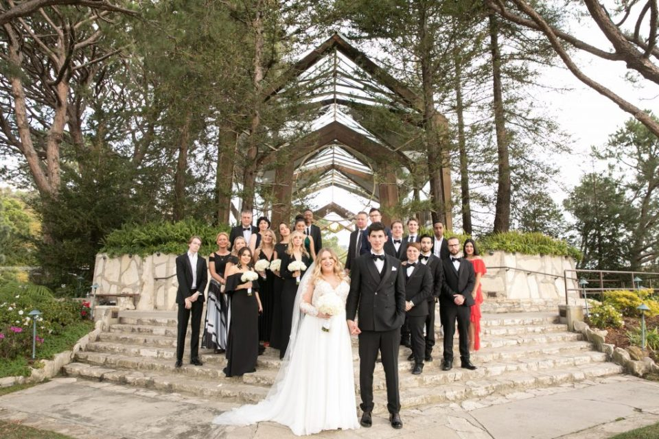 formal whole wedding party and guest wayfarers wedding small wedding