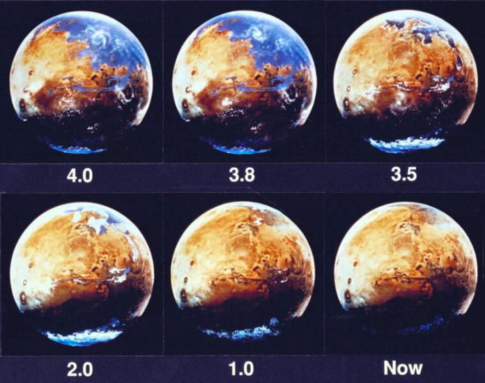 The loss of water on Mars