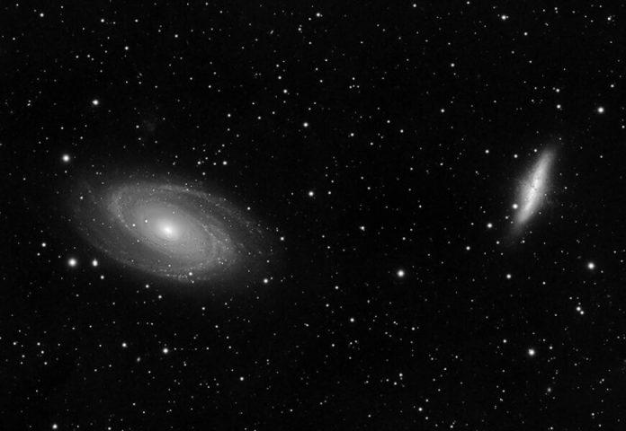 Luminance image of M81 and M82