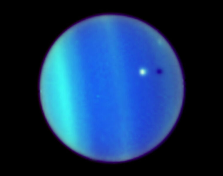 Ariel transits Uranus
