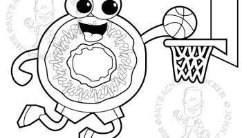 dunking donut free coloring page