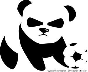 soccer panda graphic, panda soccer, panda logo