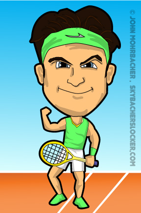 Roger Federer Cartoon Skybacher 39 s Locker