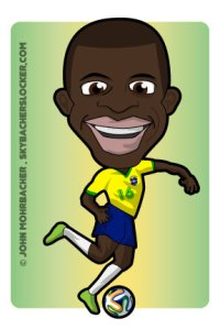 ramires cartoon, world cup ramires, brazil ramires