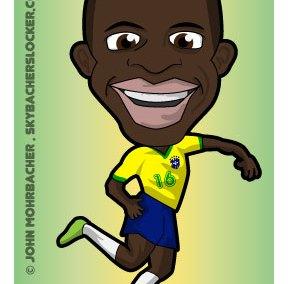 ramires cartoon, world cup ramires, brazil ramires