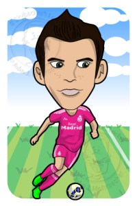 gareth bale cartoon, bale madrid vector, soccer vector