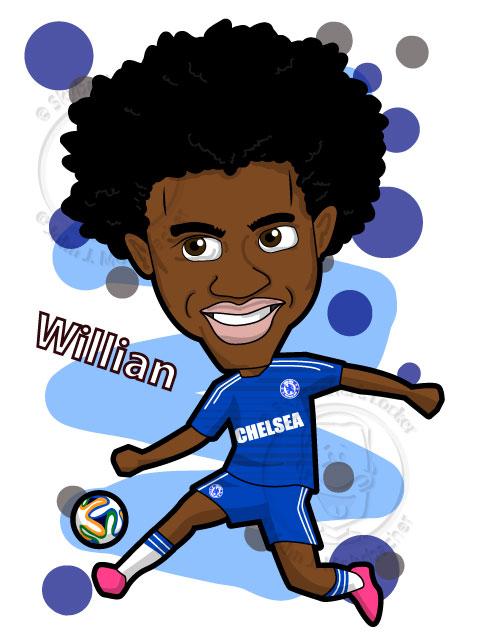 Willian - Cartoon - Chelsea
