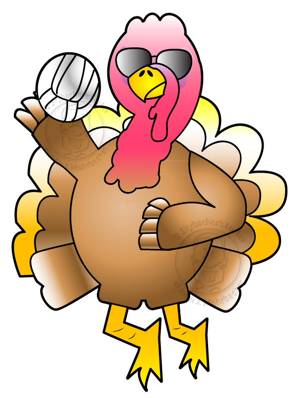 turkey cartoon, volleyball turkey, turkey clipart