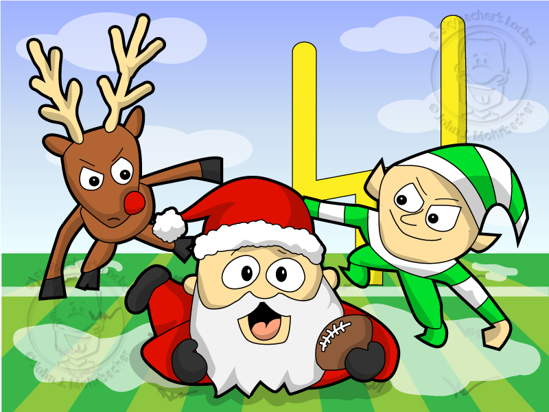 christmas football coloring pages - photo#32