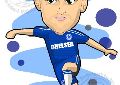 ivanovic cartoon, chelsea clipart, soccer cartoons, best rightback premierleague
