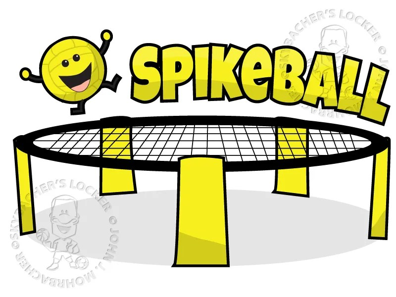 Spikeball Cartoon Vector