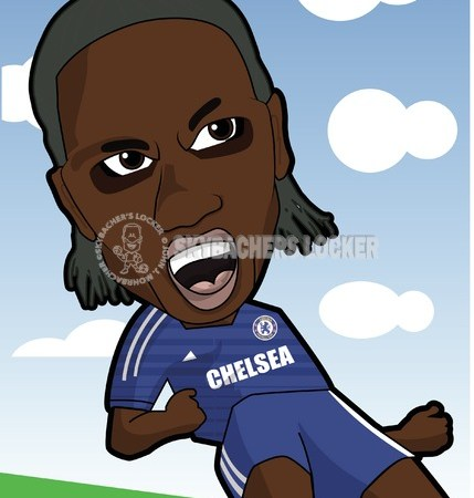 Chelsea Legend Drogba Cartoon - Skybacher's Locker
