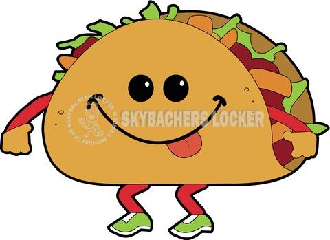 Walking Taco Cartoon - Skybacher's Locker