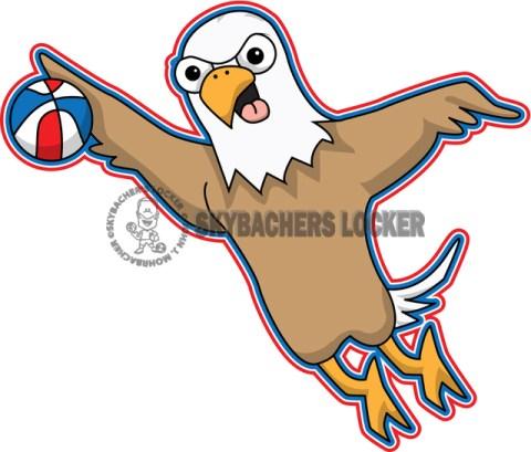 Flying Eagle Basketball Mascot - Skybacher's Locker