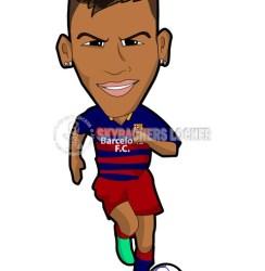 Neymar – Barca – cartoon