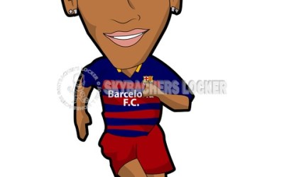 Neymar – Barca – cartoon