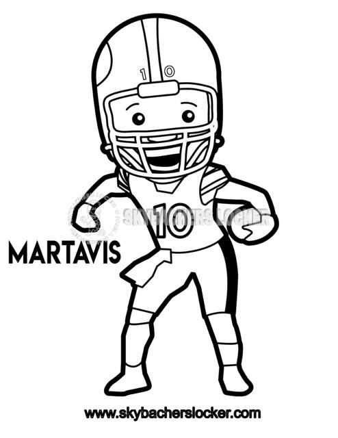 Martavis Bryant Coloring Page - Skybacher's Locker