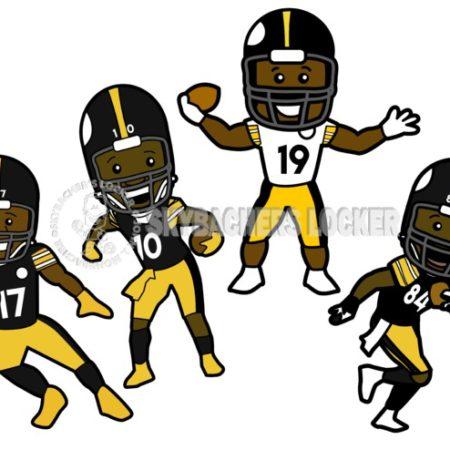 Steelers Wide Receivers Toons - Skybacher's Locker