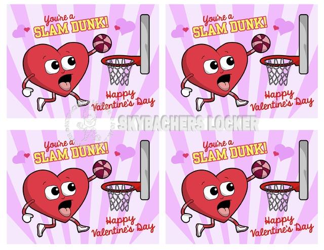 Basketball Valentines - Skybacher's Locker