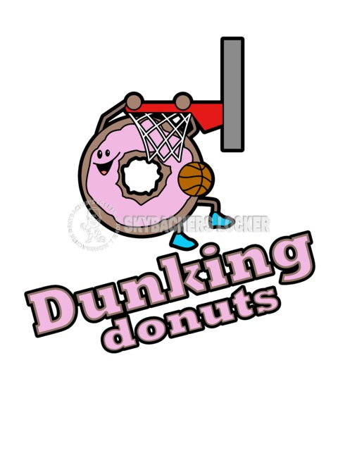 Dunking Donuts Basketball Logo - Skybacher's Locker