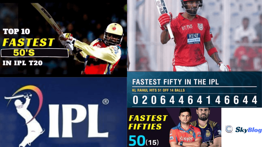 top fastest 50's in ipl T20
