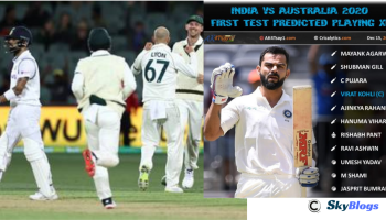 INDIA VS AUSTRALIA 1ST TEST 2020