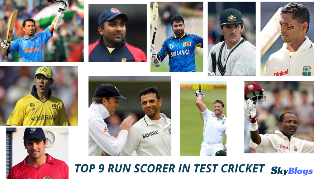 TOP 9 RUN SCORER IN TEST CRICKET