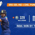 India vs England 3rd ODI Highlights 2021 -India Win The Series By 2-1