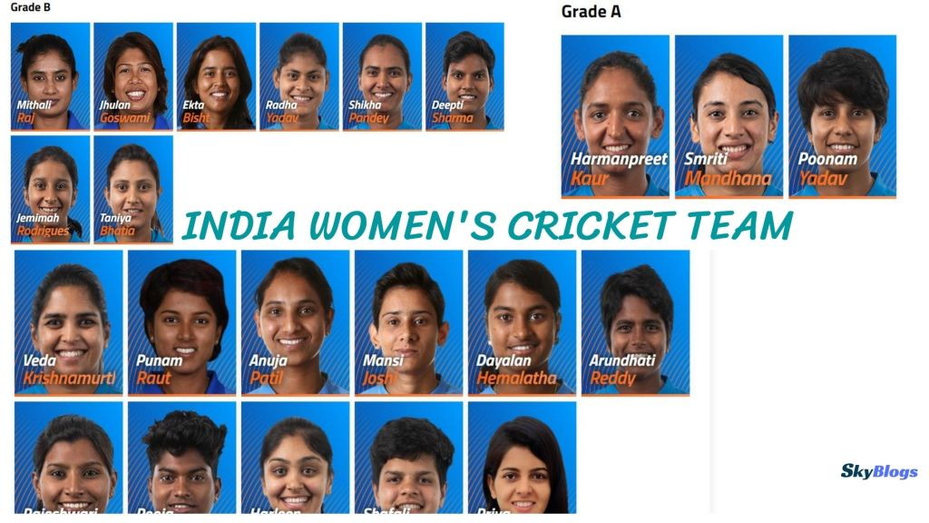 Indian Women's NATIONAL cricket team players list with Photos