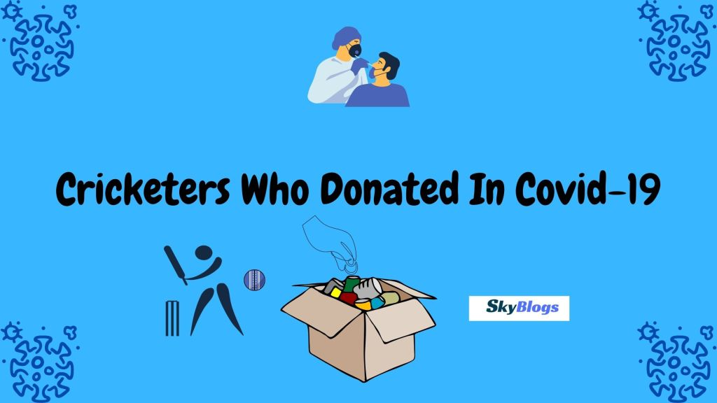 Cricketers Who Donated In Covid-19