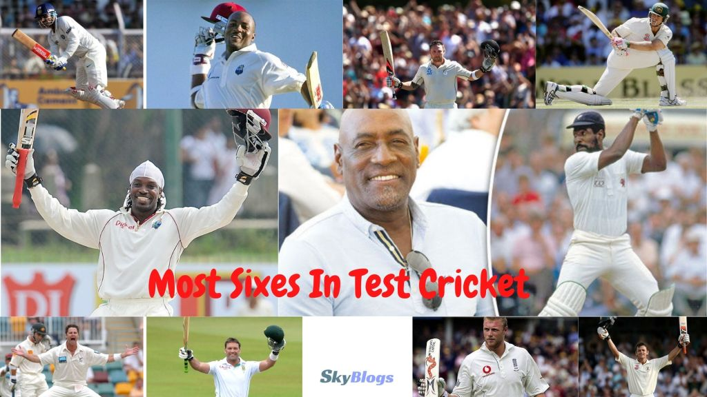 Most Sixes In Test Cricket