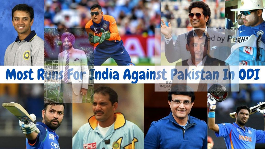 Most Runs For India Against Pakistan In ODI