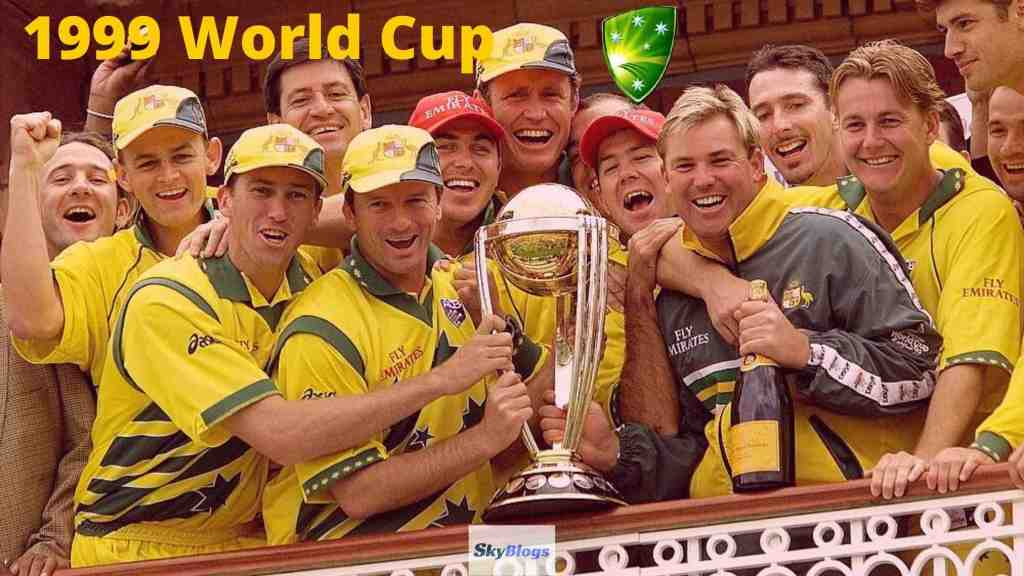 ICC Cricket World Cup 1999 Winner was Australia