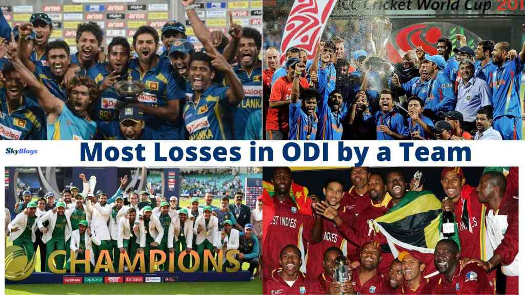 Teams with Most Losses In ODI Cricket