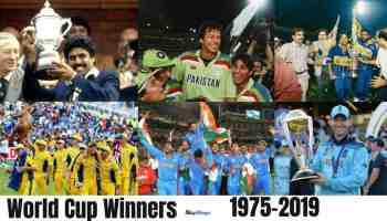 List of Cricket World Cup Winners Since 1975 To 2019
