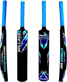 Willage Plastic Bat, Plastic Cricket Bat Hard Plastic, Plastic Bat for Tennis and Wind Ball, Cricket Bat Size 6, Blue
