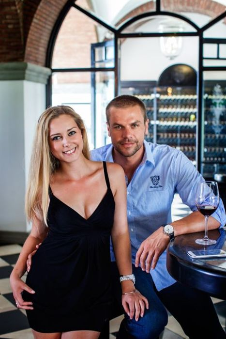 With Ryk Neethling Managing Director of Val De Vie Wine Estate