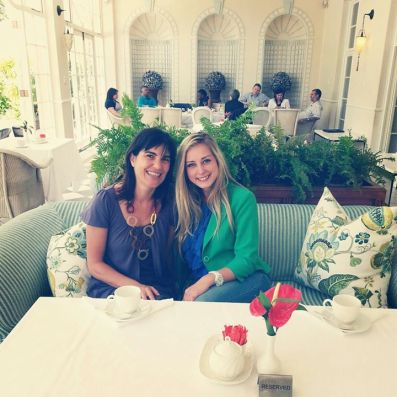 With Gaby Palmer Regional Public Relations Manager of Orient Express Hotels Africa