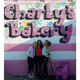 With Jacqui Biess, Owner of Charly's Bakery