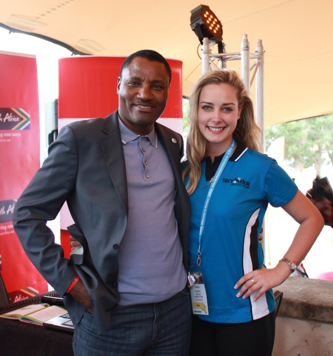 With the CEO of South African Tourism Thulani Nzima