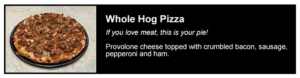 Pizza Cottage Whole Hog