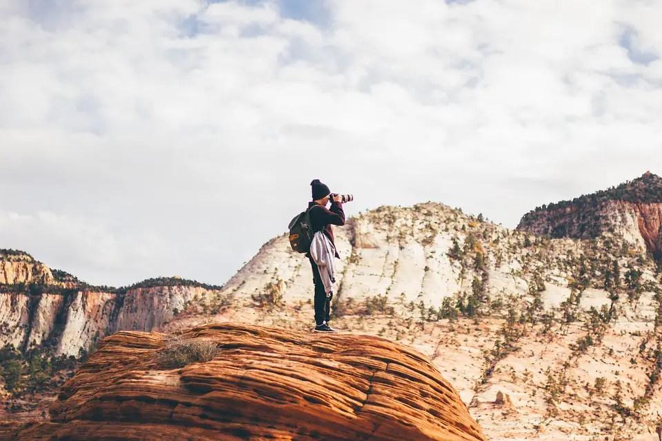 Photographer Mountain Scenery Landscape Camera