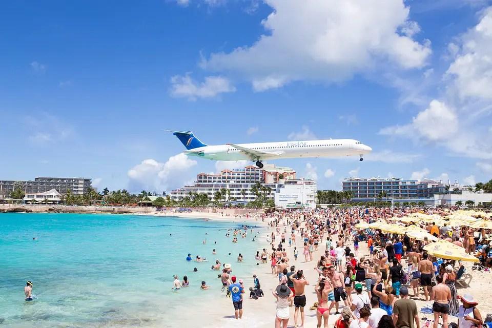 Airplane Maho Beach Saint Martin Saint Maarten Beach