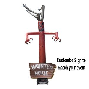 hybrid haunted sign w/ tree adbase