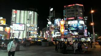 Ximen at night (a shopping center in Taipei City, 5 mins from the Aroma)